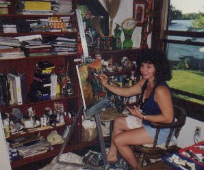 Mona Xuna at Work, at Wall Lake